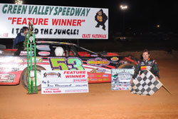 Ray Cook was the feature winner at the 2010 Bama Bash. Photo by Thomas Hendrickson Photos.