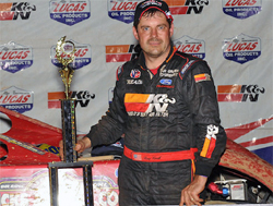 Ray Cook wins in Lucas Oil Late Model Dirt Series on last night of the Summer Sizzle in Fayetteville, North Carolina