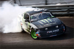 Vaughn Gittin Jr.'s Monster Energy Falken Tire 2011 Ford Mustang GT Drift Car