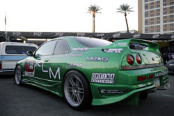 This 2012 SEMA Show car is a 1995 Nissan Skyline R33 with a 2.5 liter turbo motor
