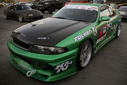 Green is a great color for theis 1995 Nissan Skyline found at the 2012 SEMA show