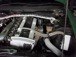 The RB25 motor in this 1995 Skyline was build the way they should be for a SEMA show