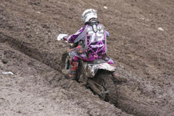 Holding your line at the Canadian MX Nationals was a easy as walking along top of it.