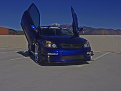 RedLion Motorsports installed vertical doors on their custom Chevy Cobalt