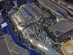 Chevy Cobalt with K&N air intake and Stage 2 supercharger kit