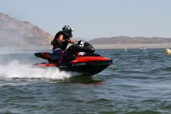 Renee Hill finnished first in Moto 2 at 2013 ISJBA Jettribe West Coast Series Lake Perris Open.