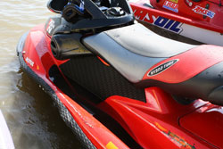 Racing is truly a family sport for watercraft racer Renee Hill.