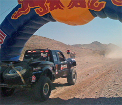 The starting line of the Best in the Desert 1000 mile Vegas to Reno off-road race