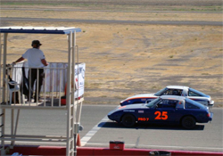 K&N supported racers Ken Tucker and Jacob Pearlman running door-to-door in the SCCA main event at Buttonwillow Raceway in Buttonwillow, California