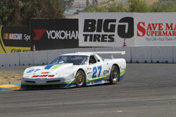 Despite mechanical problems during the practice and qualifying sessions, Sloma still managed to score two first place finishes in the GT-1 class at the SCCA double Regional races at Infineon Raceway.