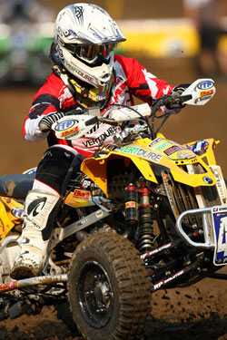 Richard Pelchat began racing with his brother and a friend on a race quad they pieced together - Photo by Harlen Foley