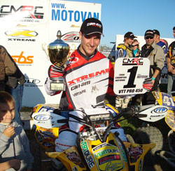 Seven time Canadian ATV Champion Richard Pelchat - Photo by Harlen Foley