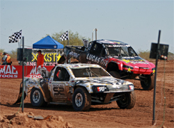Off Road short course dirt racers compete in LOORRS Series at Surprise, Arizona
