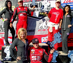 Ricky James (center) captured victories in Rounds 11 and 12 of Lucas Oil Off Road Racing Series at the Primm Valley Motorsports Complex near Las Vegas, Nevada