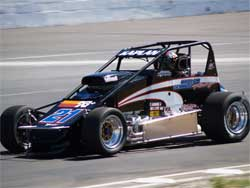 Ryan Kaplan's USAC pavement sprint car, photo courtesy of Brian Daniels