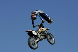 Haslam makes incredibly tough and risky freestyle tricks appear like air-ballet