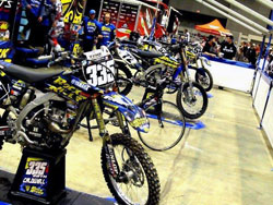 Seth Caldwell's bike stands along with his Rock River Powersports teammates. Photo by Vurbmoto.
