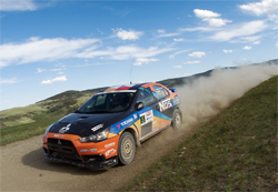 New 2009 Mitsubishi Lancer Evolution X debuts near Calgary, Alberta in the challenging Rocky Mountain Rally