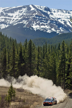 Team ACP takes second place in the Rocky Mountain Rally during round two of the Canadian Rally Championship Series