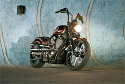Look for Rolands Sands' custom morotcycle, the Victory Capone, in the 2012 K&N AAPEX booth