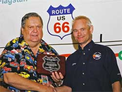 Jack Brown and Steve Rogers, photo by Route 66 Rendezvous Staff