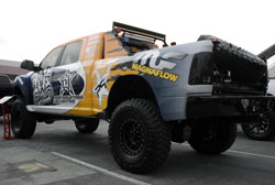 SEMA welcomes all sorts of show vehicles, even this 2011 Dodge Ram 6.7 liter diesel