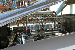 Rolls Royce Silver Shadow has a fuel injected 572 cubic inch Chrysler Hemi with a nitrous oxide system and a supercharger