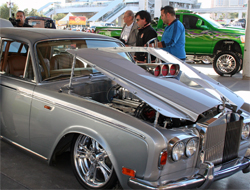 1970 Rolls Royce Silver Shadow at SEMA show in Las Vegas, Nevada