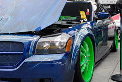 SEMA 2012 DUB booth featured custom 2007 Dodge Magnum R/T
