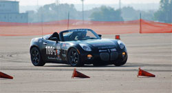 Driving his Pontiac Solstice Ryan Buetzer won the 2011 SCCA C-Stock National Championship, his sixth title in just eight years.