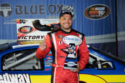 NASCAR K&N Pro Series East driver Ryan Gifford won the Blue Ox 100 race at Richmond International Raceway.