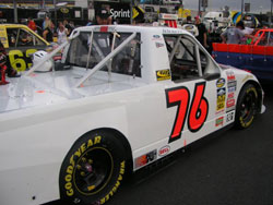 Ryan Hackett Racing's season ended for the #76 Ford at the Talladega Super Speedway