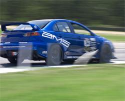 2008 Mitsubishi Lancer EVO X driven by Ryan Gates at Carolina Motorsports park in Kershaw, South Carolina, photo by Kyle McManus