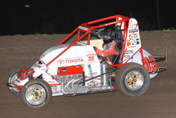 Kody notched his first USAC Dirt Midget victory with a dramatic photo-finish.