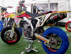 RMZ 450 Suzuki ready for competition with K&N air and oil filters in the European Motorcycle Union (UEM) Supermoto Championship Series