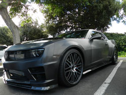 SEMA featured this modified 2010 Camaro SS with 3M Black Stainless Brushed Metallic Wrap