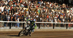 Halbert had 12,000 fans on their feet for his win at the Santa Rosa Mile Grand National Championship