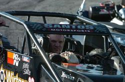 Bobby Santos won the Whelan Modified Tour season opener at Thompson Speedway's Icebreaker in CT