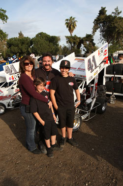 A Scelzi racing family portrait - Julianne, Gary, Dominic and Giovanni.