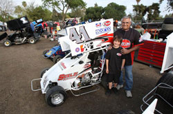 Giovanni with his crew chief Frank Potter at Lemoore Raceway