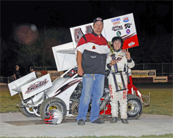 Dominic Scelzi is following in his father's racing footsteps as a force to be dealt with on the track