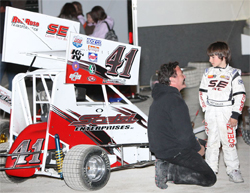 Gary Scelzi's son Giovanni is only 7, but has won his last four races