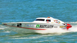 The K&N supported 30-foot Phantom Superboat Vee class vessel is capable of reaching 95 mph