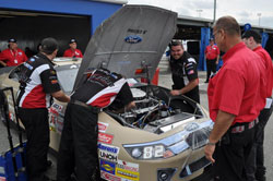 Corr's pole start was the first for Roush-Yates Engines at Daytona International Speedway in 11 years.
