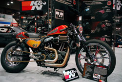 Performance Machine displayed this custom Harley Davidson Sportster in the K&N SEMA booth