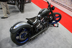 Performance Machine also lent a custom Harley Davidson Softail to K&N for the SEMA display