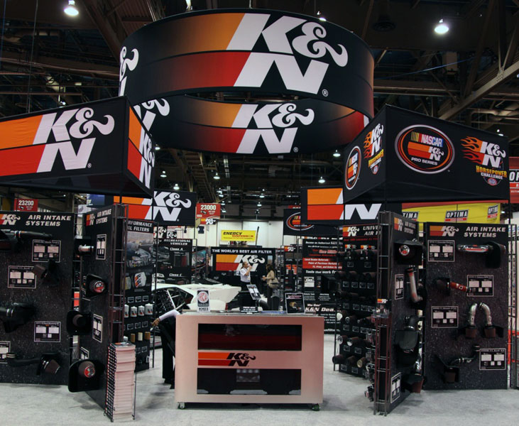 K N At The Specialty Equipment Market Ociation Sema Show In Stands For Auto Cars