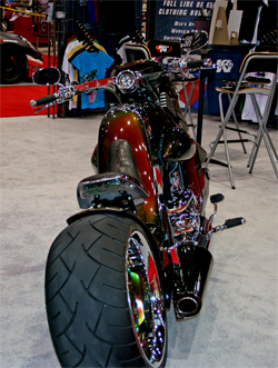 The wheelbase of the V REX is over nine feet long