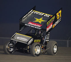 Shane Stewart quickly jumped out in front at USCS Speedweek