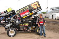 Shane Stewart won the ASCS Midwest Region's Jackson Spring Nationals Race.